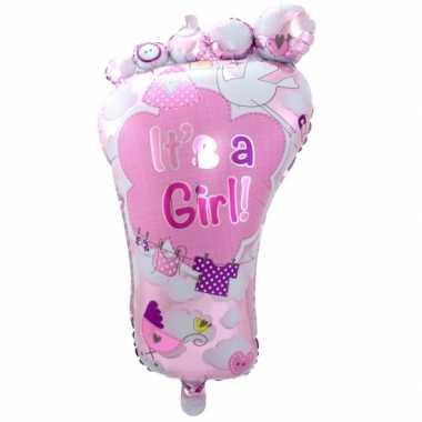 Folie ballon geboorte meisje
