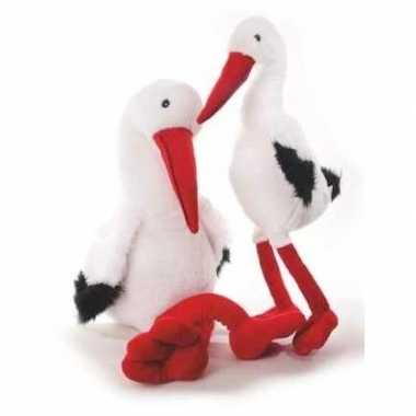 Geboorte pluche knuffel ooievaar vogel 41 cm